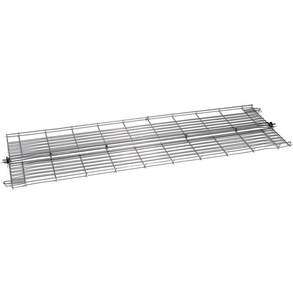 "Silver, 48"" Folding Bottom Wire Shelf for Clothes Rack"