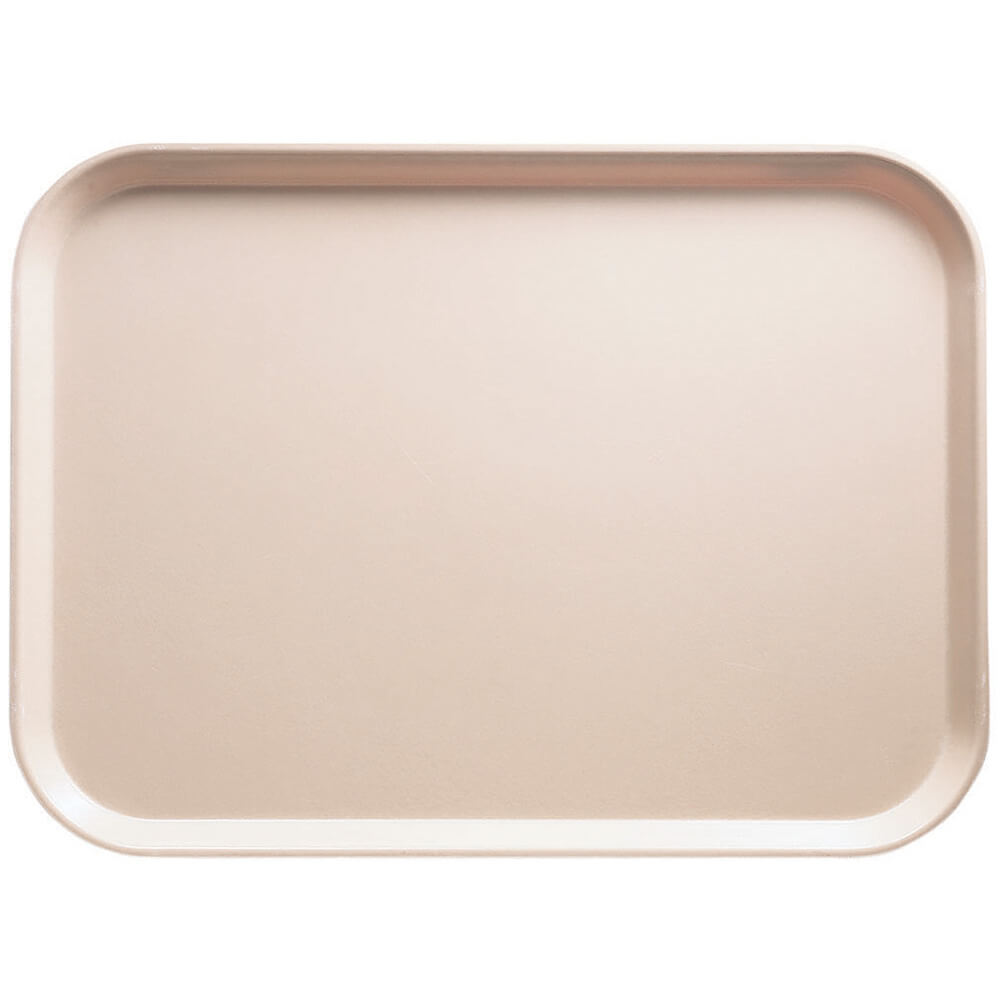 "Light Peach, 14"" x 18"" Food Trays, Fiberglass, 12/PK"