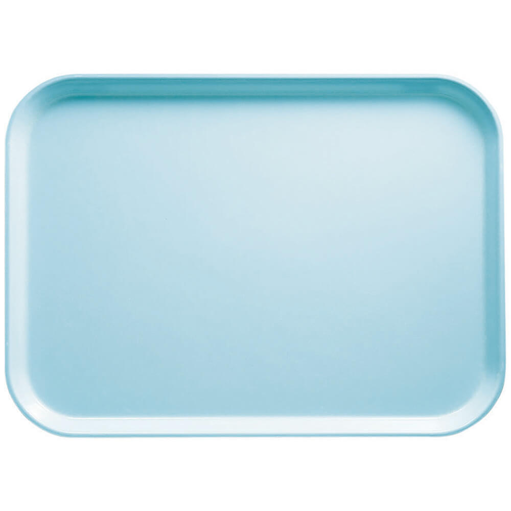 "Sky Blue, 16.5"" x 22.5"" x 1-1/16"" Food Trays, Fiberglass, 12/PK"