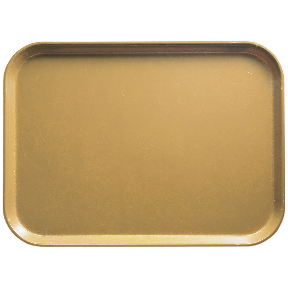 "Earthen Gold, 12"" x 16"" Food Trays, Fiberglass, 12/PK"