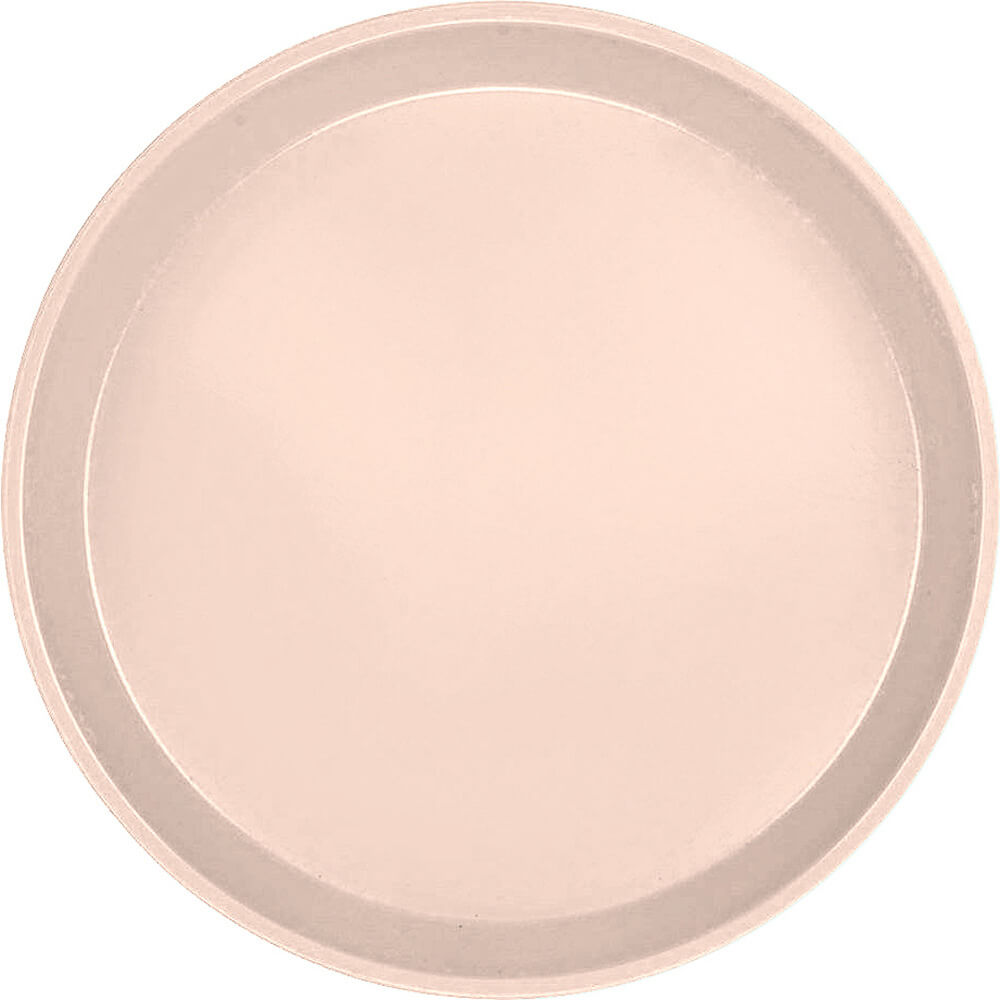 "Light Peach, 9"" Round Serving Tray, Fiberglass, 12/PK"