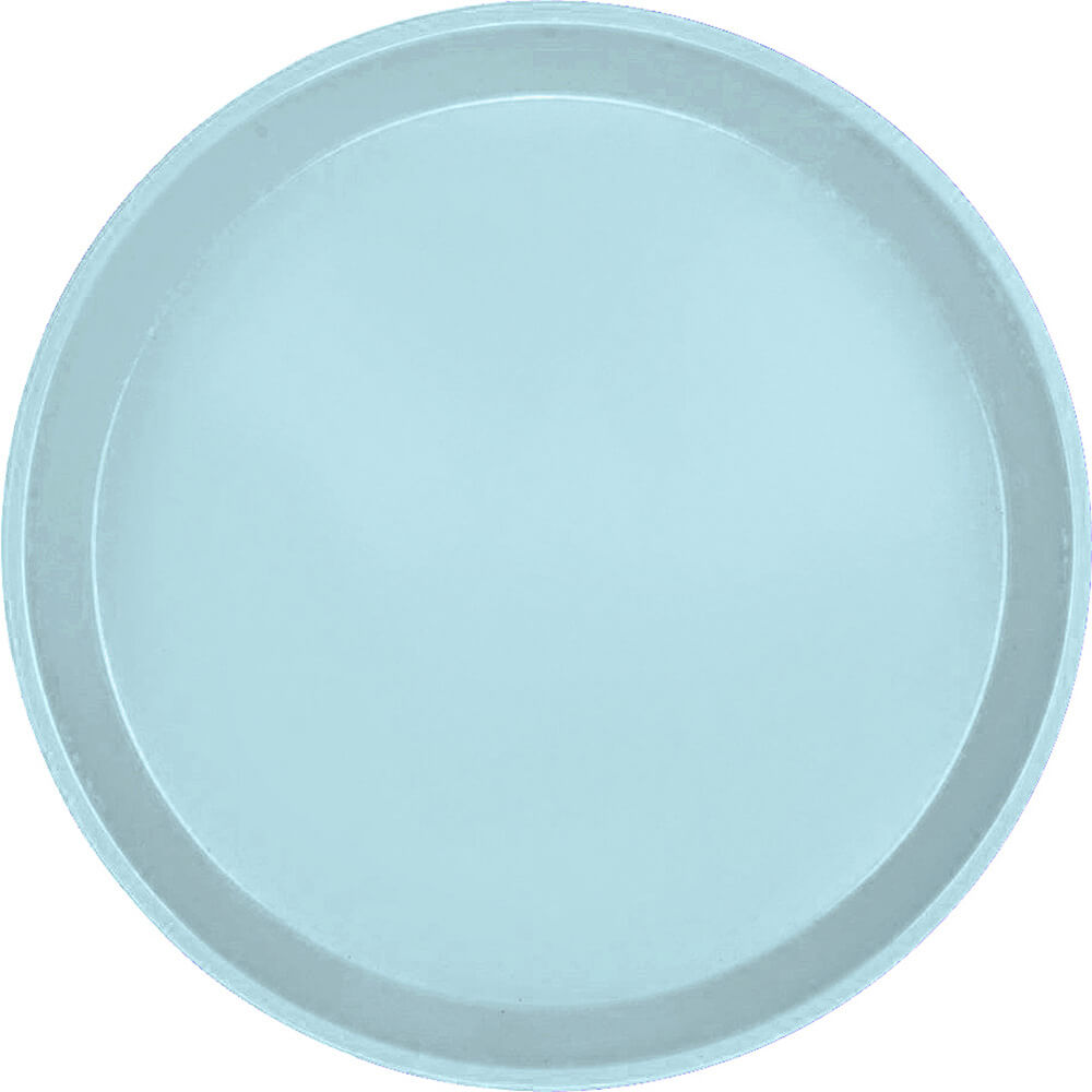 "Sky Blue, 11"" Round Serving Tray, Fiberglass, 12/PK"