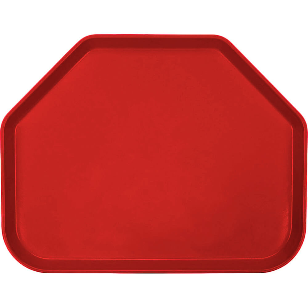 "Cambro Red, 14""x18"" Trapezoid Food Trays, Fiberglass, 12/PK"