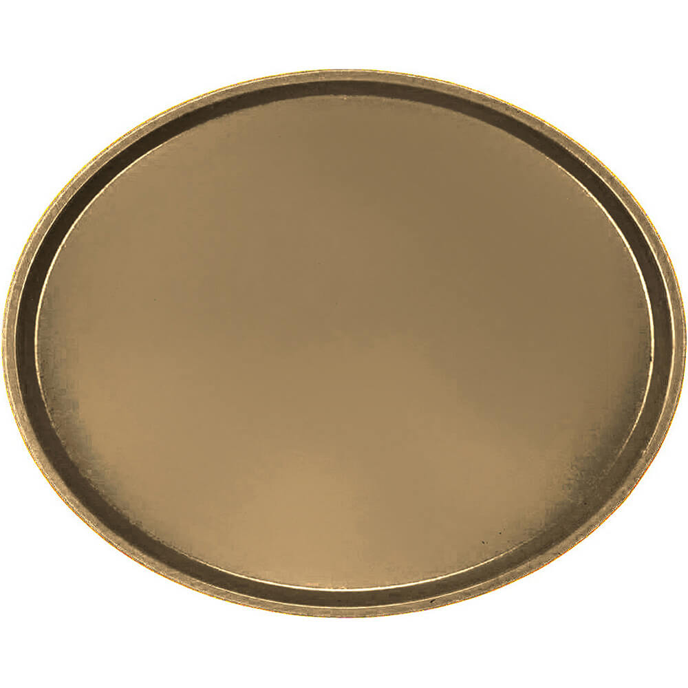 Bay Leave Brown, Restaurant Oval Tray, Fiberglass, 6/PK