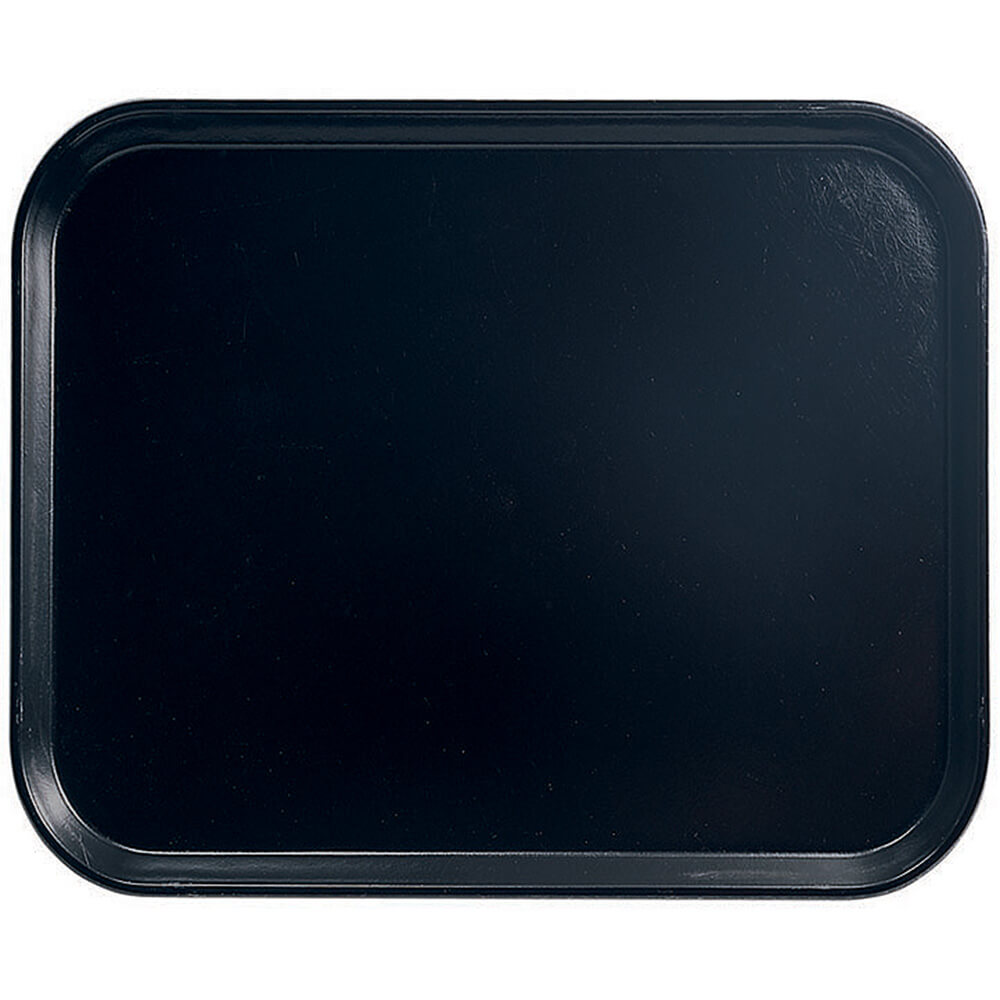 "Black, 8"" x 10"" Food Trays, Fiberglass, 12/PK"