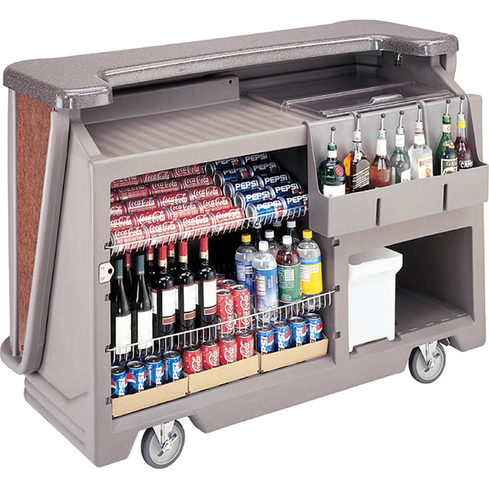 Granite Gray And Black, Mid-size Portable Bar with Sealed-In Cold Plate View 2