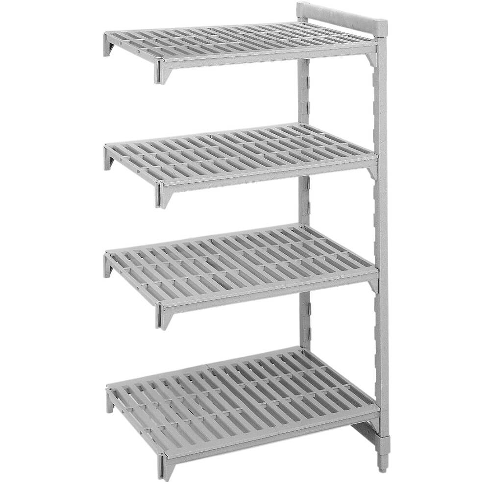 "Speckled Gray, Camshelving Add-on Unit, 36"" x 21"" x 72"", 4 Shelves"