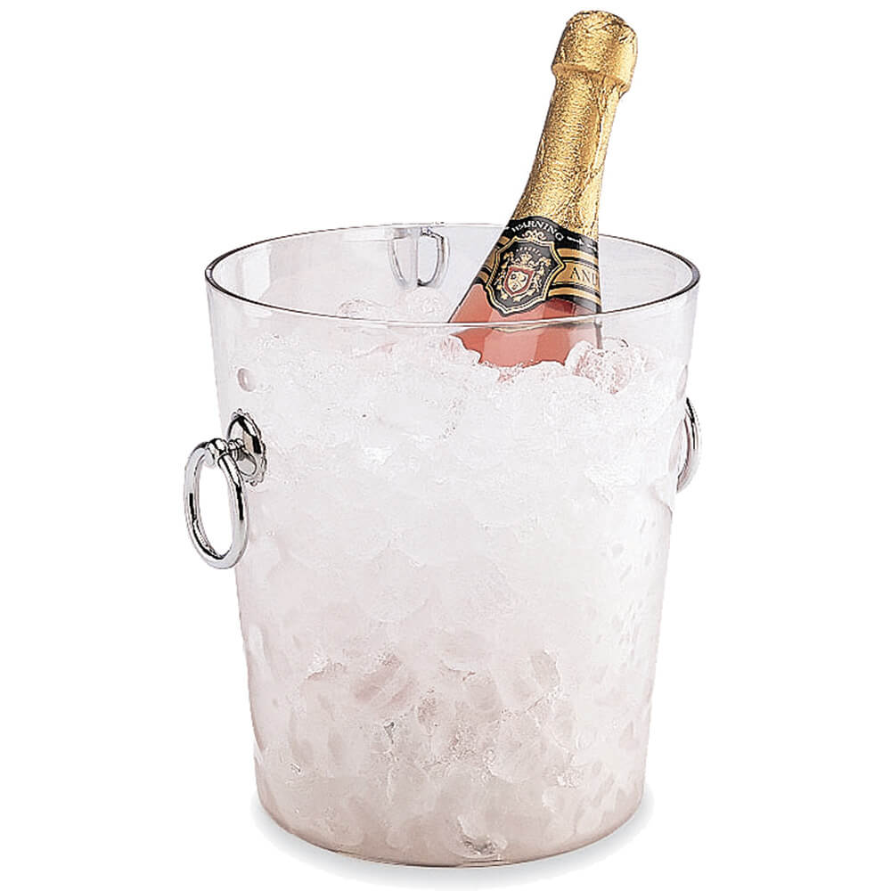 Clear, Polycarbonate Ice Bucket with Handles