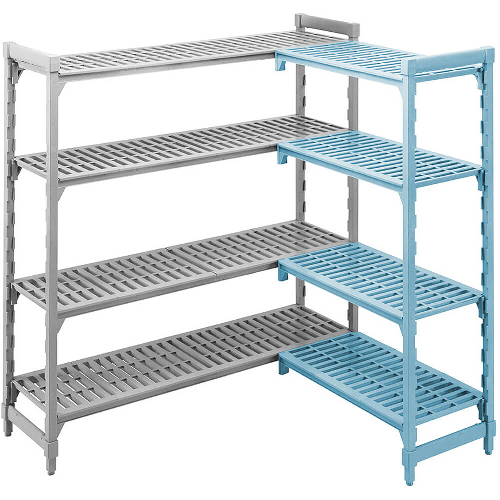 "Speckled Gray, Camshelving Add-on Unit, 36"" x 21"" x 72"", 4 Shelves View 3"