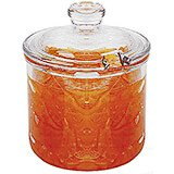 Clear, Condiment Jar and Cover, 24/PK