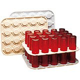 Beige, Plastic Glass Stackers / Keepers, 12/PK